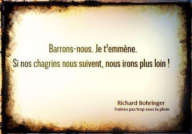 """Richard Borhinger """"Traînes pas trop sous la pluie"""""""