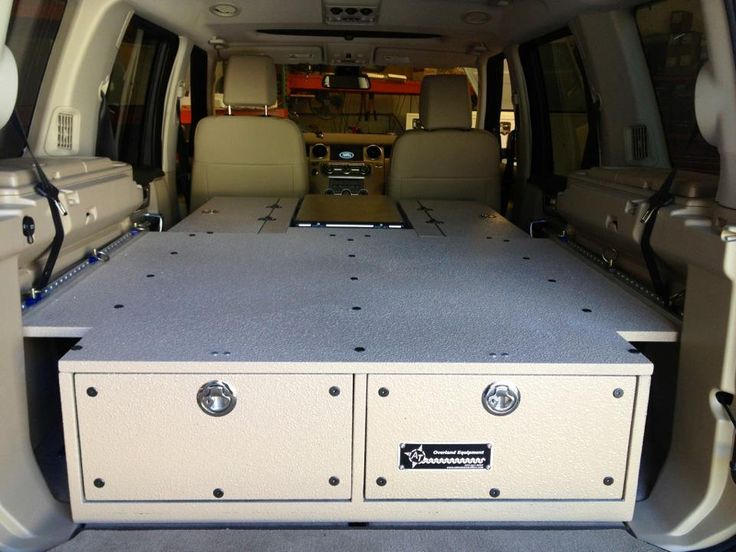 Incorporating your cooler into the sleeping platform.  Expedition Portal