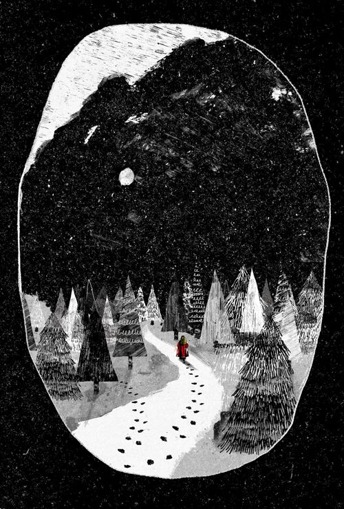 In the Company of Wolves by Peter Strain    Created for the Folio Society competition to illustrate Angela Carter's The Bloody Chamber and other stories