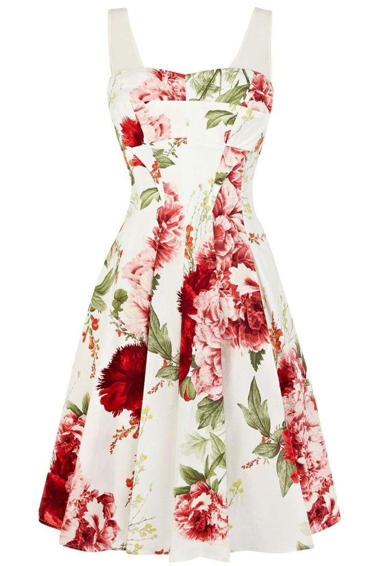 A-line sundress with floral patterns_Dresses(d)_DESIGNER_Voguec Shop