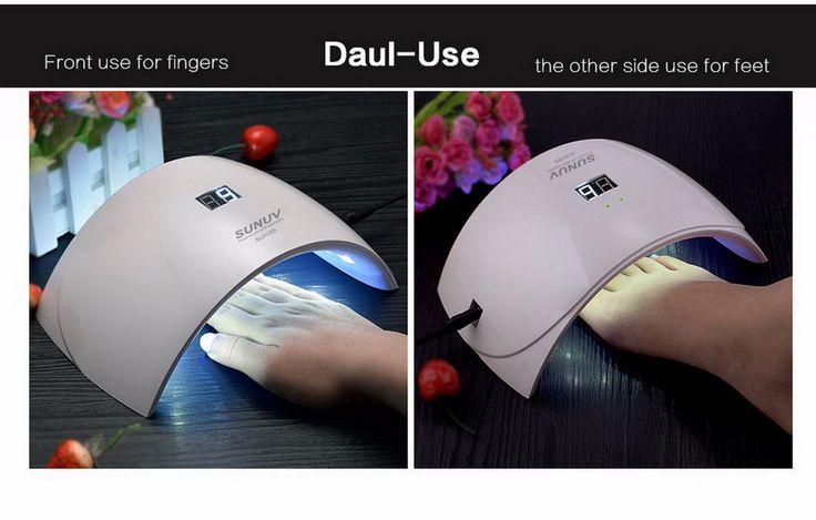 Lichthärtungsgerät LED UV Lampe 24W Lichthärtegerät Nageltrockner mit Timer Nailart