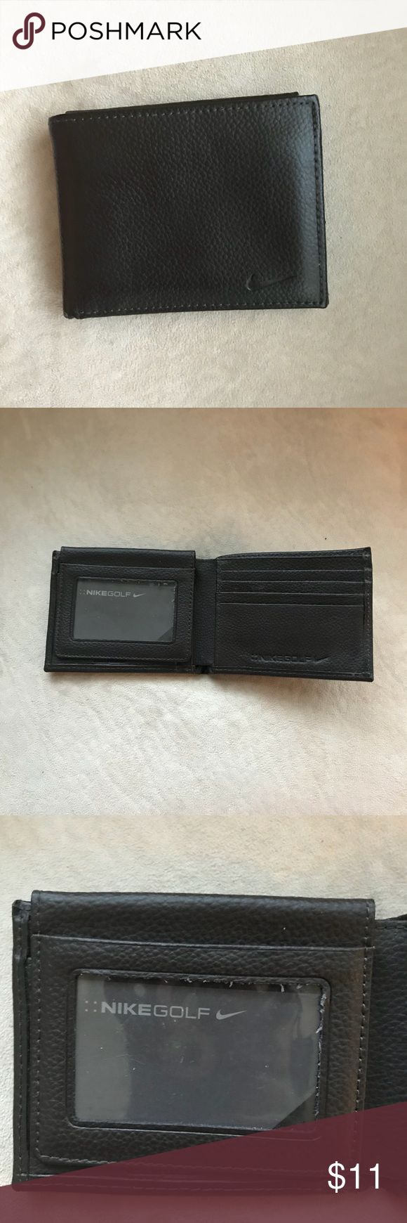 Men's wallet Very good condition Nike dark brown men's wallet 5 card slots and 3 ID windows, wide pocket for cash Nike Bags Wallets