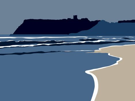 North Bay looking towards Scarborough Castle, North Yorkshire - Ian Mitchell