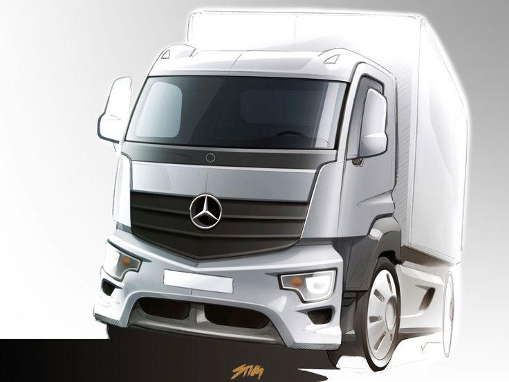 Mercedes-Benz Antos - Design Sketch