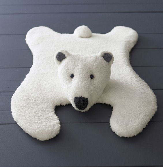 Polar Bear Rug Knitting Pattern : Best images about doudous on pinterest