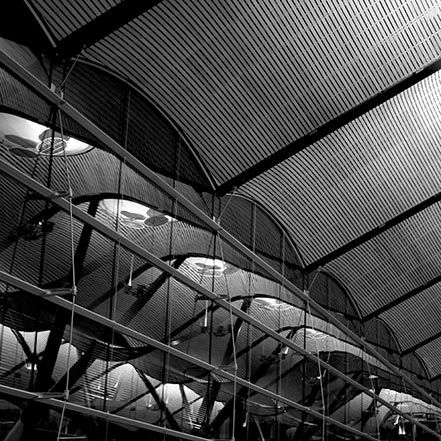 Material Matters: Wood #manser #wood #timber airport #richard #rogers #bamboo #ceiling #roof #madrid