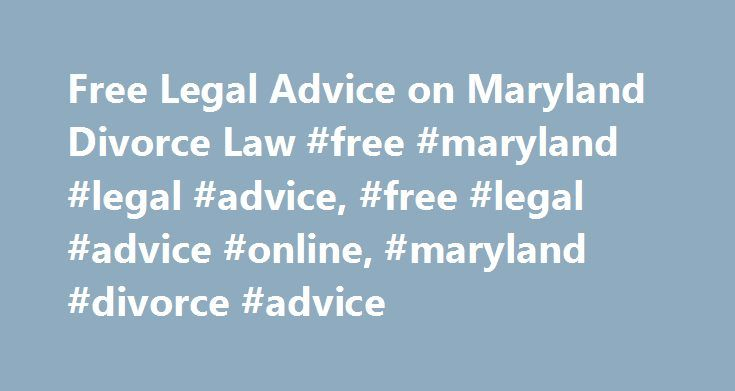 Divorce in Maryland - FAQs