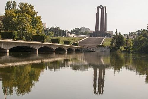 Reflexion of the Mausoleum in Carol Park