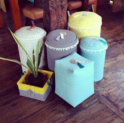 Colorful Laundry  Basket at Tan Living Bali.