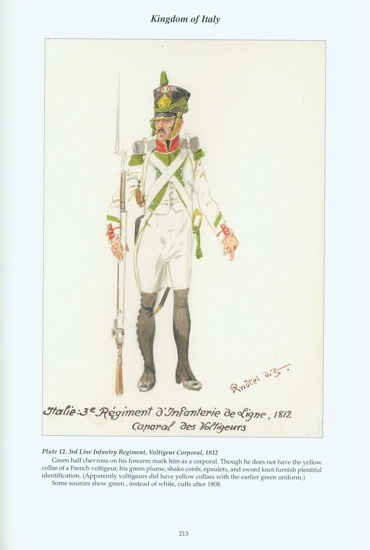 Regno d'Italia - Caporale del 3* Reggimento Voltiguer di Fanteria di Linea, 1812