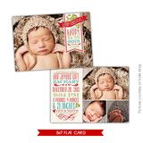Holiday Birth Announcement Template | Christmas dream | Photoshop templates for photographers by Birdesign