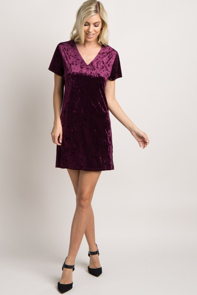 Easy to dress up or down, this gorgeous crushed velvet dress