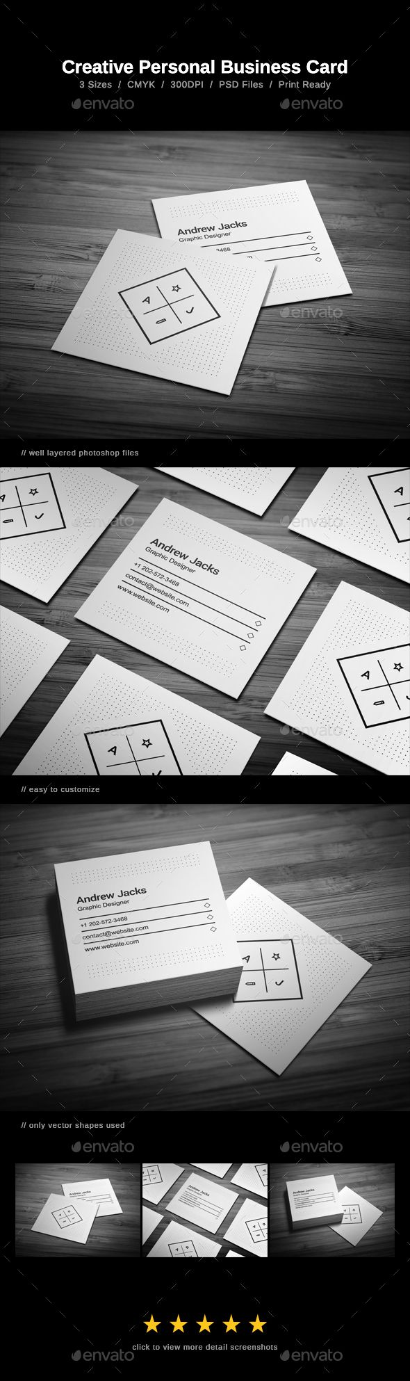 #Creative Personal Business Card - #Business #Cards Print Templates