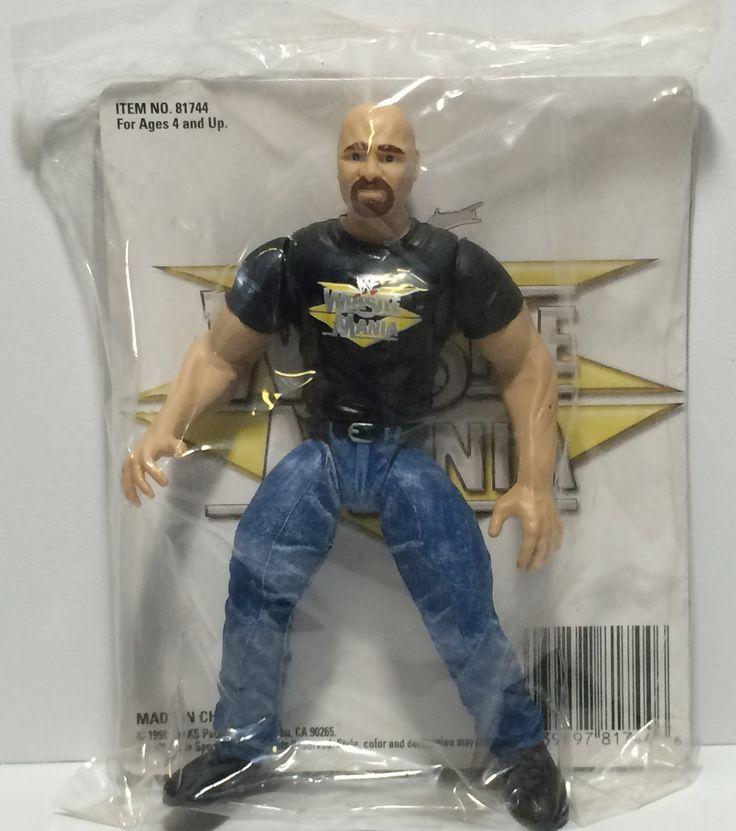 (TAS030073) - 1998 Jakks TitanSports WWF WrestleMania Figure - Steve Austin