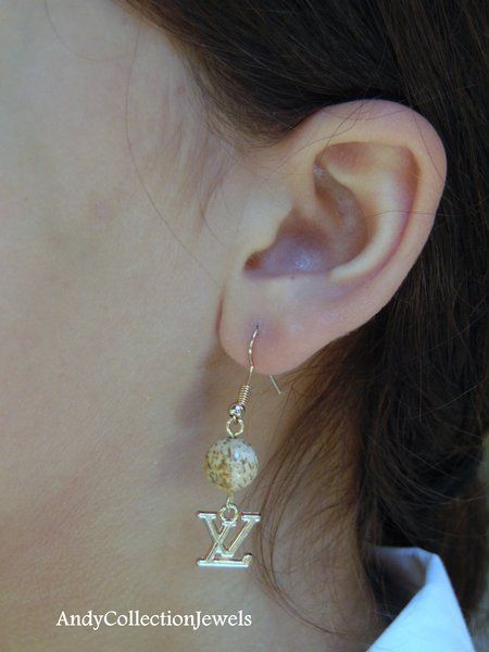 Jasper dangle earrings Replica chanel dangle earrings Replica louis vuitton dangle earrings Cheap classy jewelry gift Perfect daughter gift