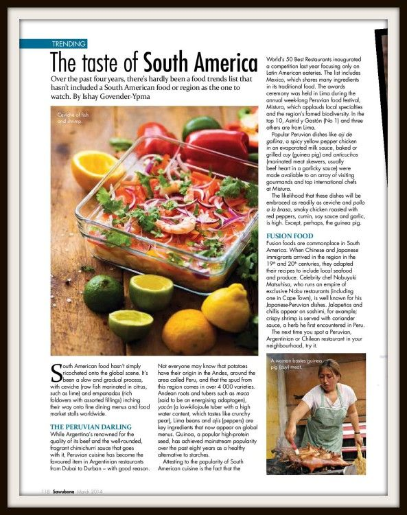 South American Food Trends - Ceviche and More | Food and the Fabulous
