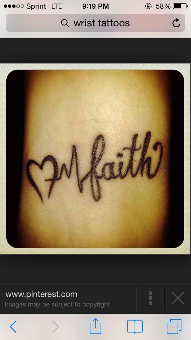 Lifeline tattoo with sisters instead if faith