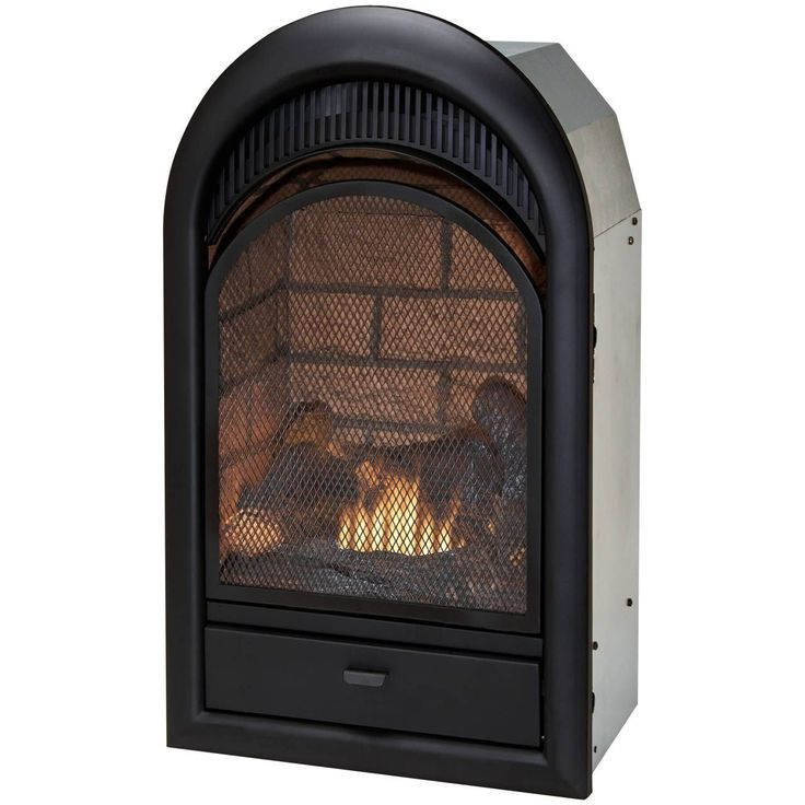 Duluth Forge Dual Fuel Ventless Fireplace Insert - 15,000 BTU, T-Stat, Brick Liner - Model FDF150T, White