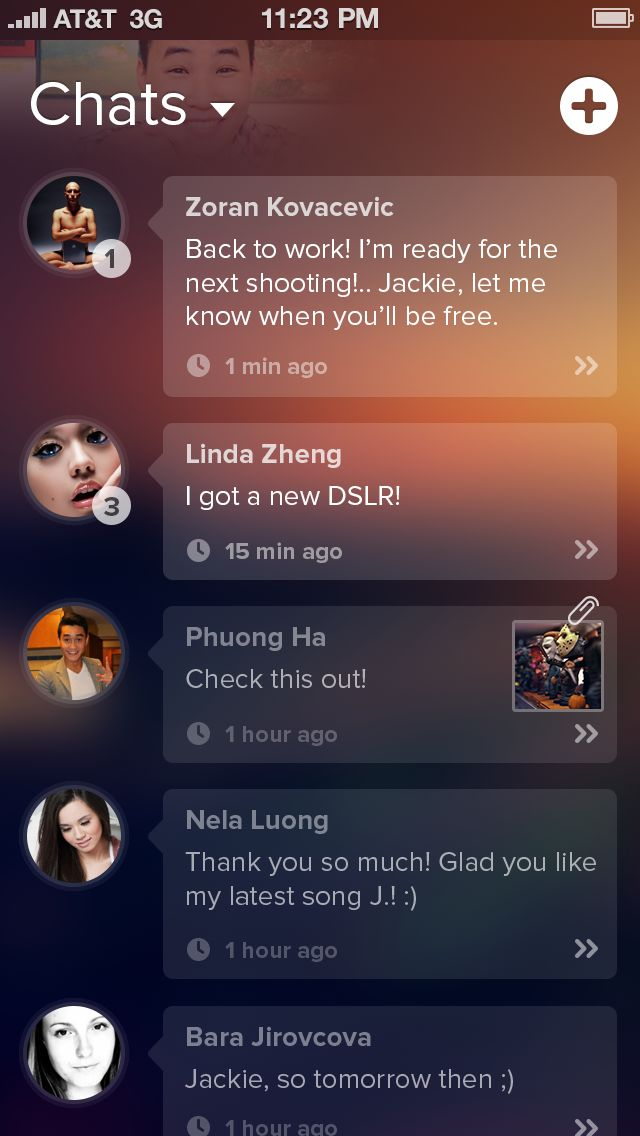 Chats Screen - transparency over blurred background