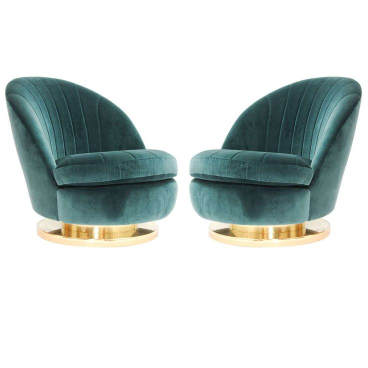 Milo Baughman for Thayer Coggin Swivel Club Chairs | From a unique collection of antique and modern club chairs at http://www.1stdibs.com/furniture/seating/club-chairs/