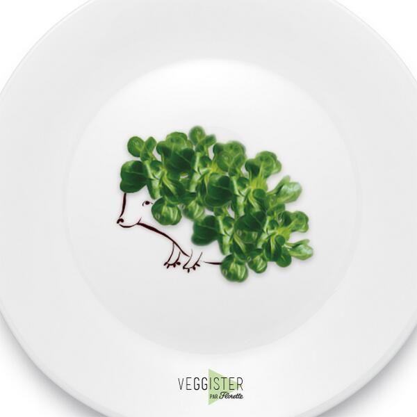 Enfin des assiettes qui ne manquent pas de piquant #Veggister #FoodArt