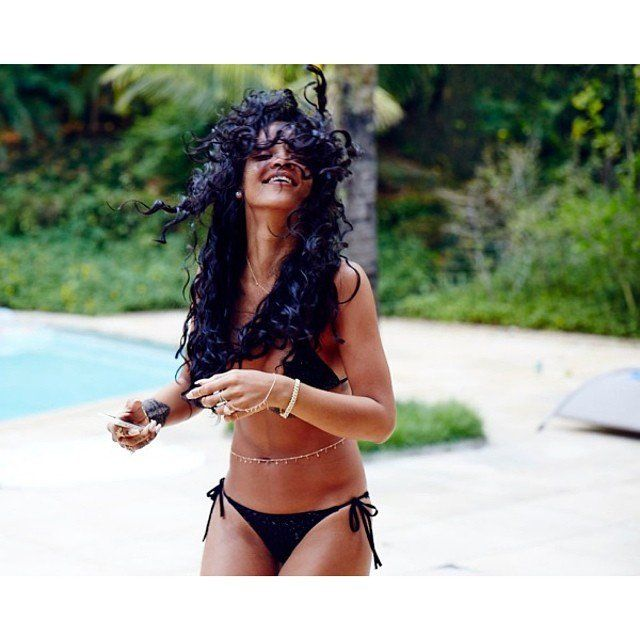 Pin for Later: The Summer Trend That'll Make Your Bikini Even Sexier Rihanna Rihanna wears multiple chains when she hits the beach, proving they work just as well with a black string bikini . . .