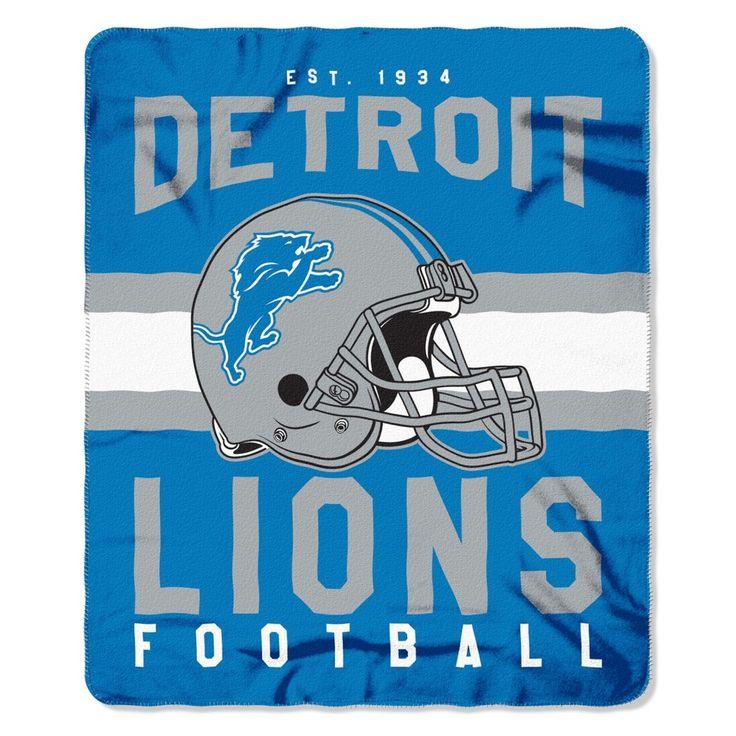 """NFL Detroit Lions Northwest 50""""x60"""" Throw Blanket"""