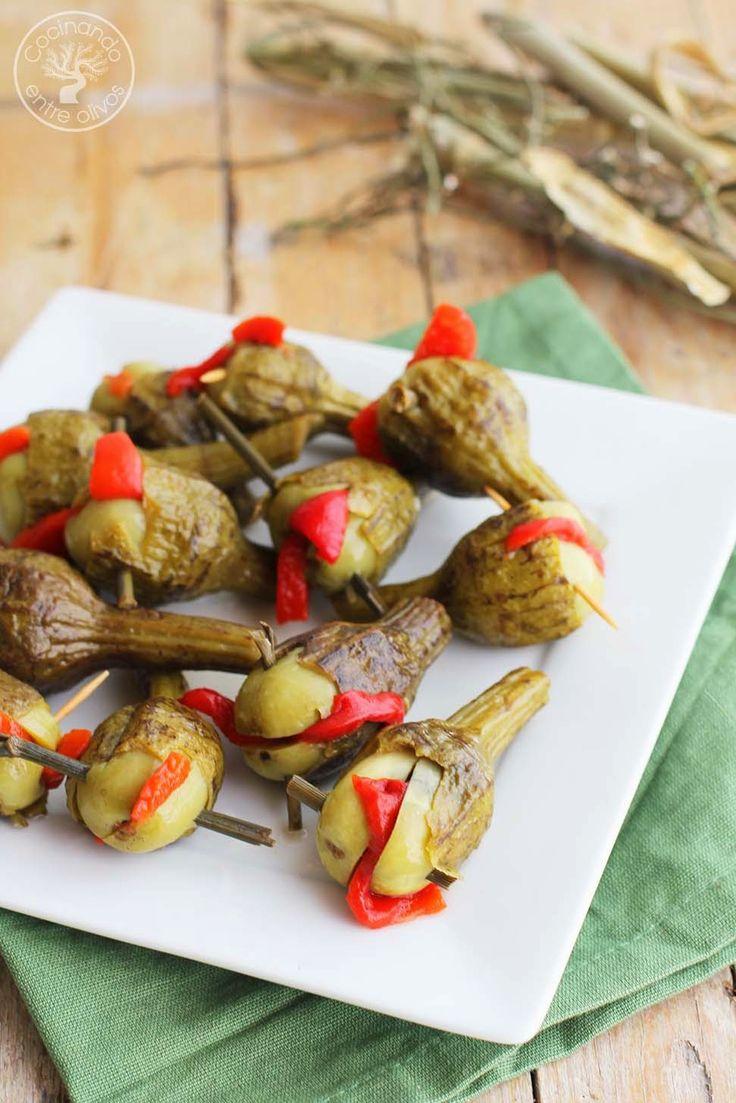 Cocinando entre Olivos: Berenjenas en vinagre o Berenjenas aliñadas de Jaén. Receta paso a paso.