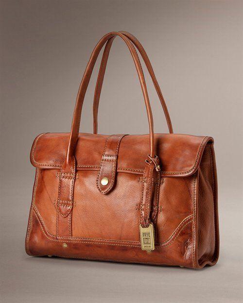 NWT FRYE Campus DB878 SADDLE TAN Satchel Leather WOMENS Handbags SHOULDER PURSES #Frye #ShoulderBag