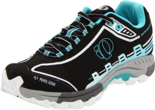 Pearl iZUMi Women's X-Alp Seek IV WRX Water Resistant Trail Shoe Pearl iZUMi. $74.47. Rubber sole. Built in lace garage keeps laces out of drive train. 1:1 Energy Foam heel crash pad for off-the-bike cushion. Dual clipless mountain biking and trail running shoe. Carbon rubber lugged outsole. Dual dnesity EVA X-Alp midsole with firmer second density between pedal and foot for on-the-bike power transfer. Synthetic and Mesh