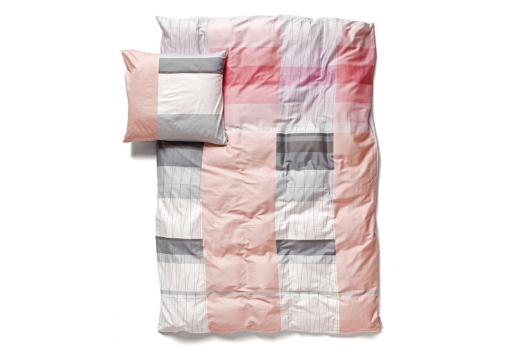 Colour Block pink shades bed linens  Scholten & Baijings for Hay.