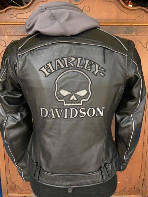 89c5243411a3 Harley Davidson Reflective Willie G Skull Leather 3 in 1 Jacket 98152-09VW  XL