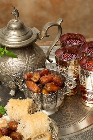 Traditionally dates are eaten at sunset during Ramadan month. Morocco
