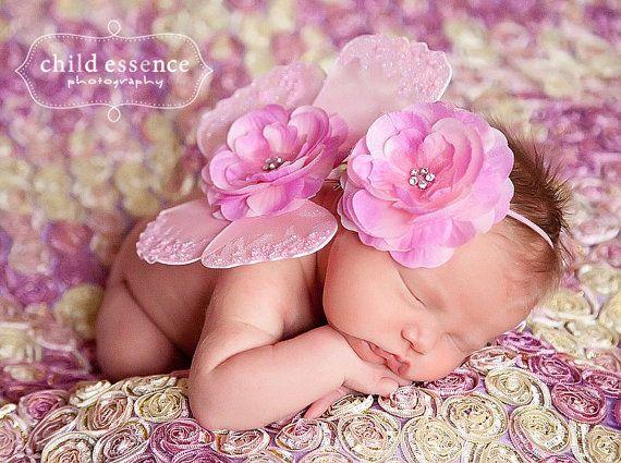 so cute!!: Flowers Headbands, Baby Headbands, Newborns Butterflies, Baby Girl3, Butterflies Wings, Pink Butterflies, Baby Girls, Newborns Photo Props, Girls Newborns