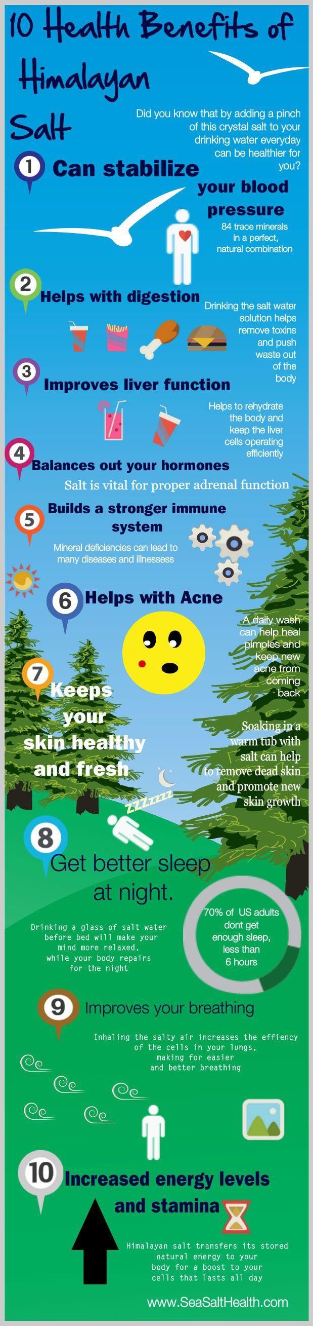 10 Health Benefits of Himalayan Salt - http://www.seasalthealth.com