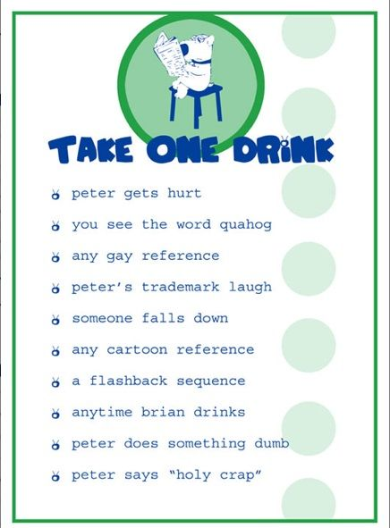 The Family Guy Drinking Game 🍷🍸🍹🥃🍺