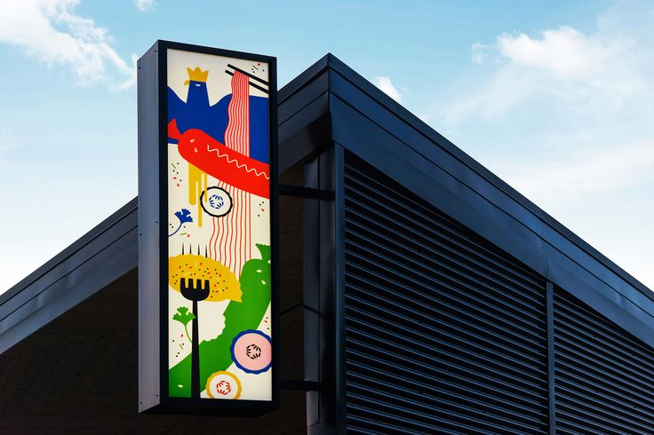 Brand identity and signage by New York studio Franklyn for Chicago's Korean Polish street food restaurant Kimski