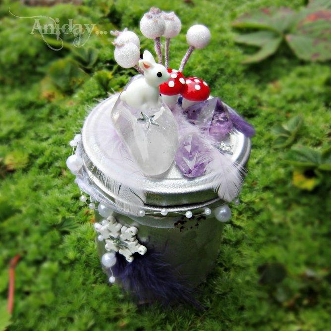 ... vílí zahrádka stříbrná - svítící dekorace ... | Zobrazit plnou velikost fotografie
