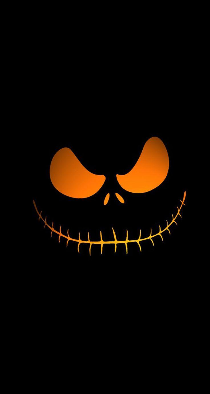 Happy Halloween Pumpkin evil face Halloween iPhone