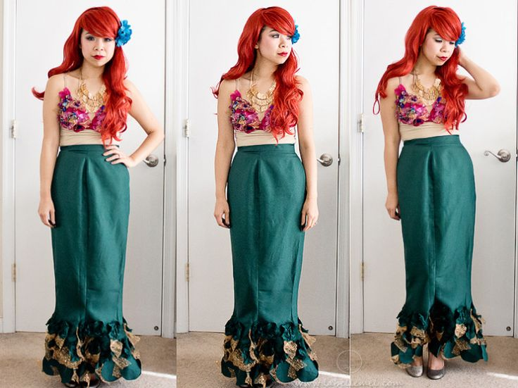 diy mermaid dress upyou can make this one any way you diy disney costumesmermaid halloween - Disney Princess Halloween Costumes Diy