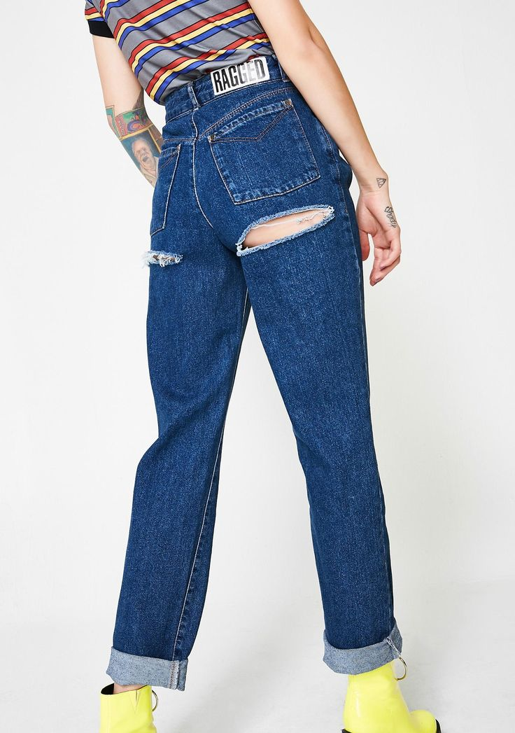 The Ragged Priest Indigo Double Butt Cut Jeans cuz you just wanna chill out. Keep it basic, but not with these high waisted denim jeans that have two cutouts on the back,  classic five pockets and a button fly closure. #dollskill #raggedpriest #newarrivals #newpants #newshirts