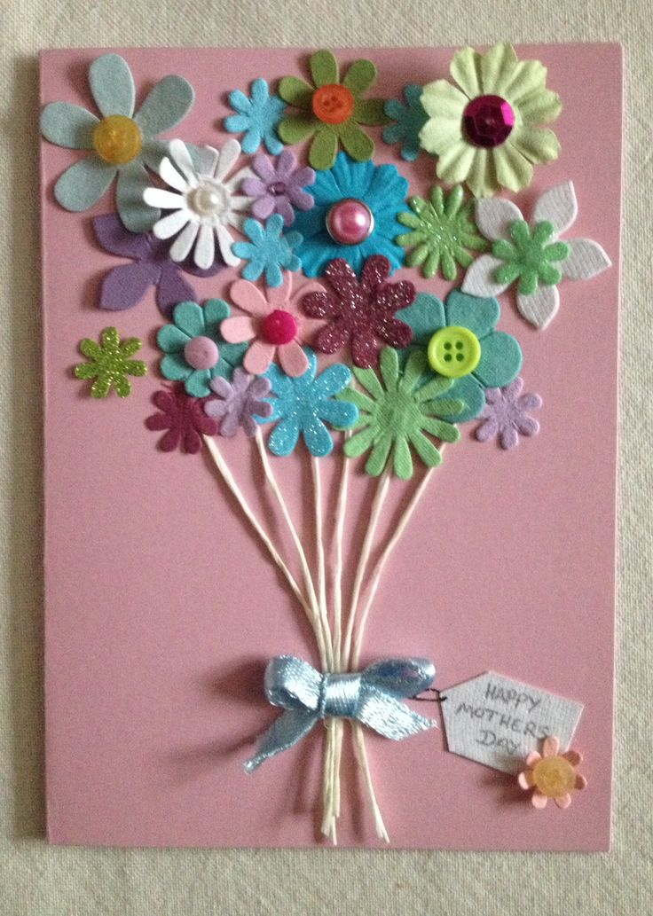 I love this home made Mother's Day card! #MumsTheWord
