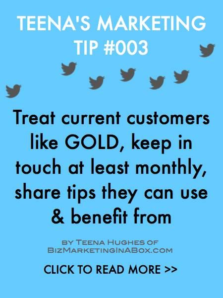 Finding new customers is tough, it's much easier to keep current customers very happy, and they'll stay with you for a long time