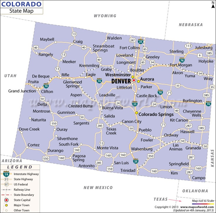 state map of colorado