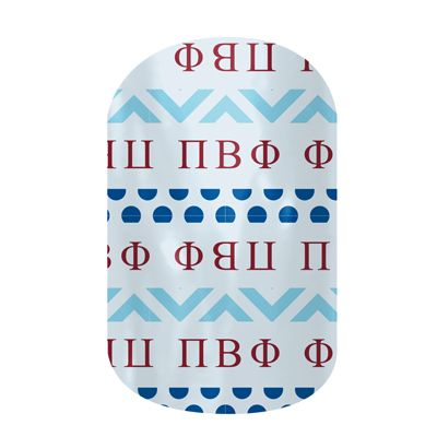Pi Betta Phi nail art made easy by Jamberry Nails! I'm happy to be the Independent Consultant that hooks you up with this easy to use at-home manicure product! We also offer fundraising opportunities for your chapter! Be the envy of your sisters!