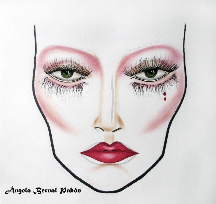 face chart años 20 POR: ÁNGELA BERNAL