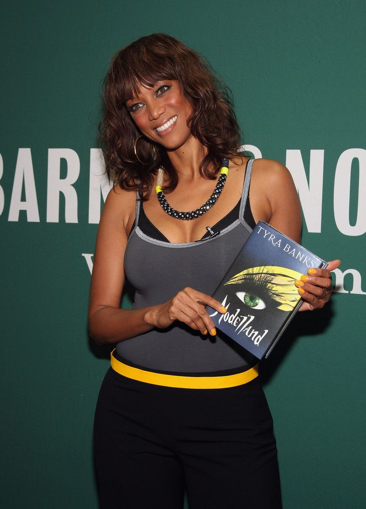 Ingeniously talented Tyra Banks ...  Fantastic...   In 2010, Oprah Winfrey congratulated Tyra Banks for a good job done on her talk-show for inspiring and mentoring young women