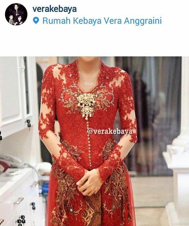 Red kebaya by vera
