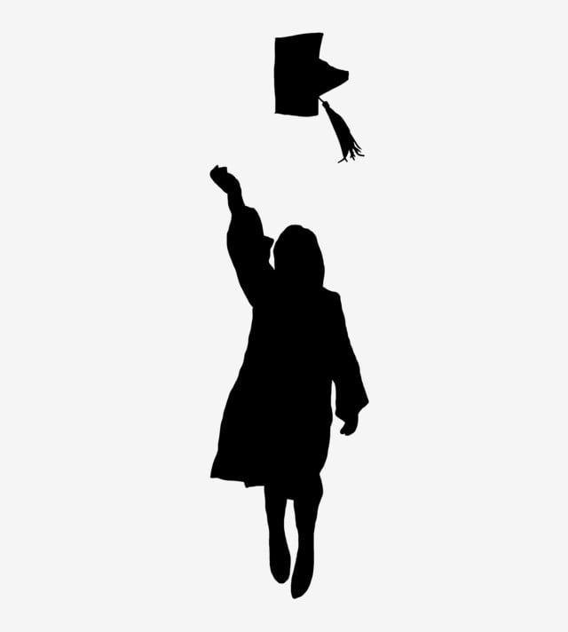 Graduation Background Vector Silhouette Graduation Silhouette Graduation Clip Art Graduation Cartoon