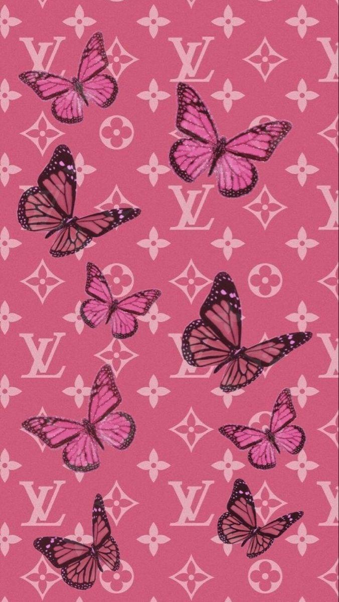 Butterfly Louis Vuitton 🦋💗 in 2020 Butterfly wallpaper